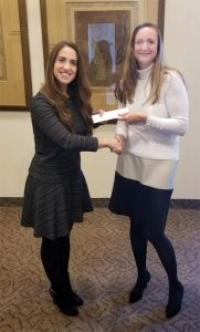 Kate Young of Strategic Practice Solutions thanking Dr. Delgato for her referral
