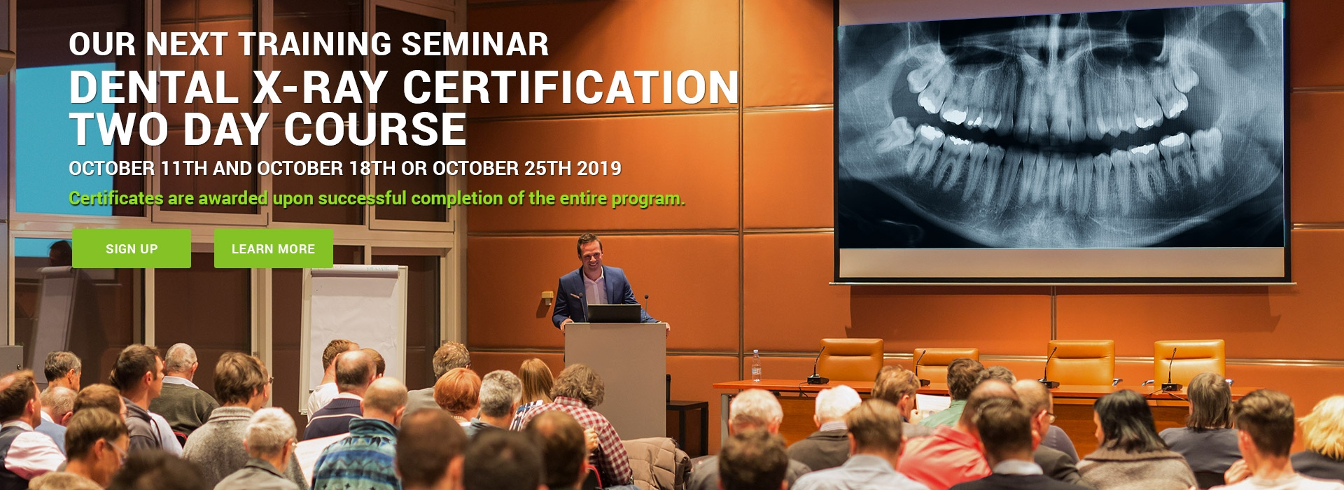 Dental X-Ray Certification Two Day Course